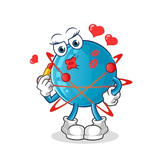 Atom make up mascot