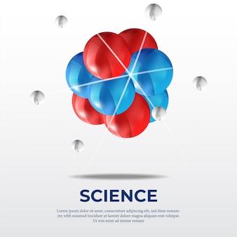 Atom molecule science poster