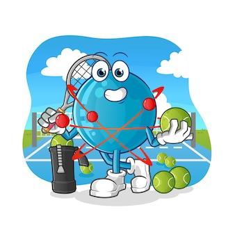 Atom plays tennis illustration