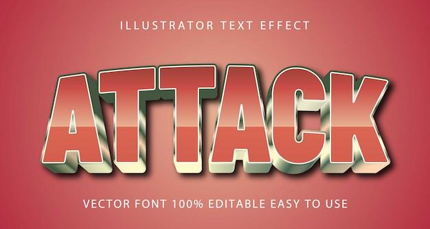 Редактируемый текстовый эффект атаки