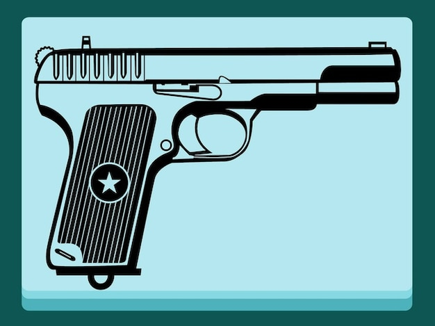 Attacking weapon gun vector decorations