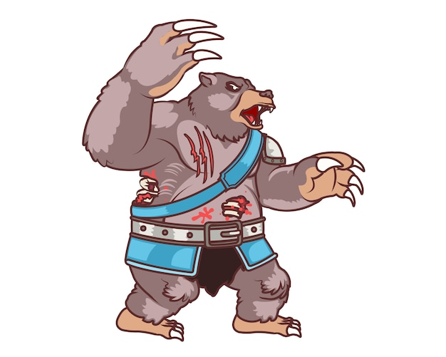 Attacking zombie bear