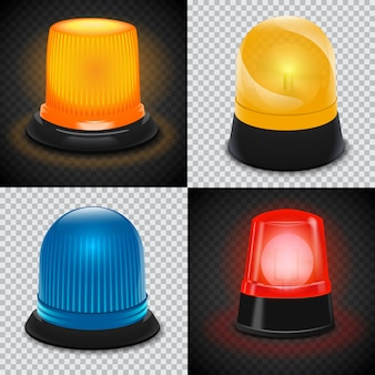 Attention flasher icon set