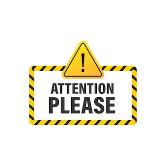 Attention please concept illustration of important announcement.