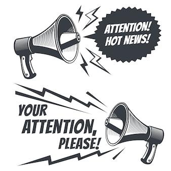 Attention please voice megaphone.