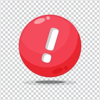 Attention sign button on blank background