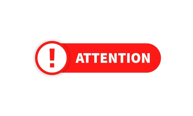 Attention sign. warning icon. announcement. vector on isolated white background. eps 10.
