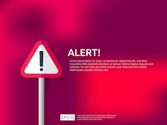 Attention warning alert sign banner