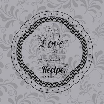 프레임 아이콘 안에 사랑에 대한 태도 문구. 영감 동기 부여 및 긍정적 인 테마. 장식용