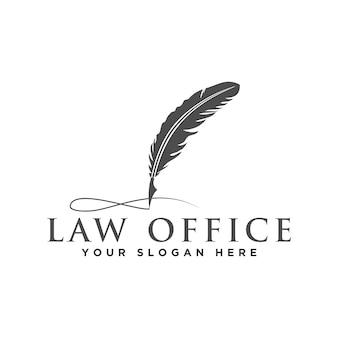 Адвокат и юридический логотип Premium векторы