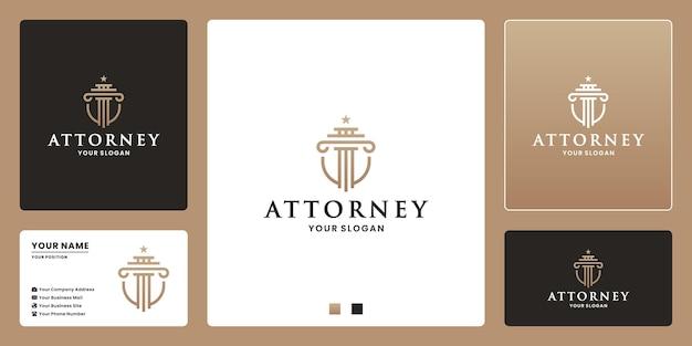Поверенный адвокат дизайн логотипа щит концепция