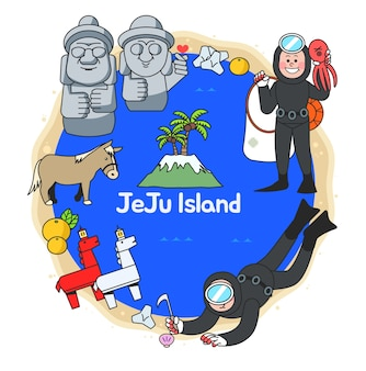 Attractions of jeju islnad in south korea