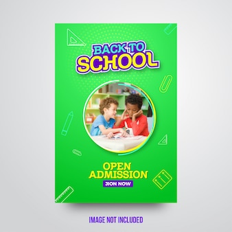 Attractive back to school abstract flyer