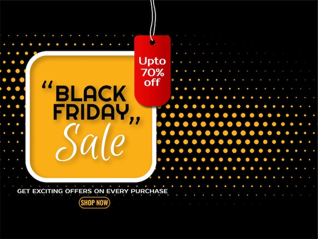 Attractive background for black friday sale offer vector