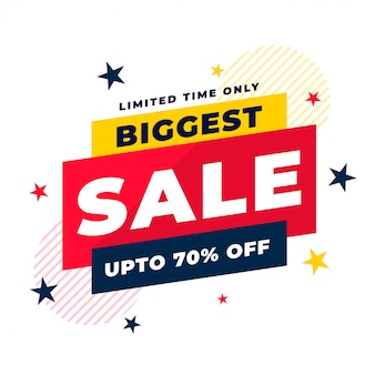 Attractive biggest sale and discount background template