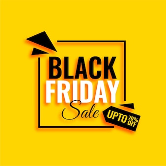 Attractive black friday sale yellow background