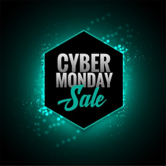 Attractive cyber monday sale glowing banner design