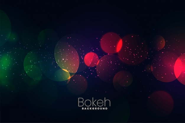 Attractive dark neon lights bokeh background