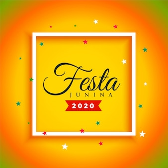 Attractive festa junina celebration poster  background