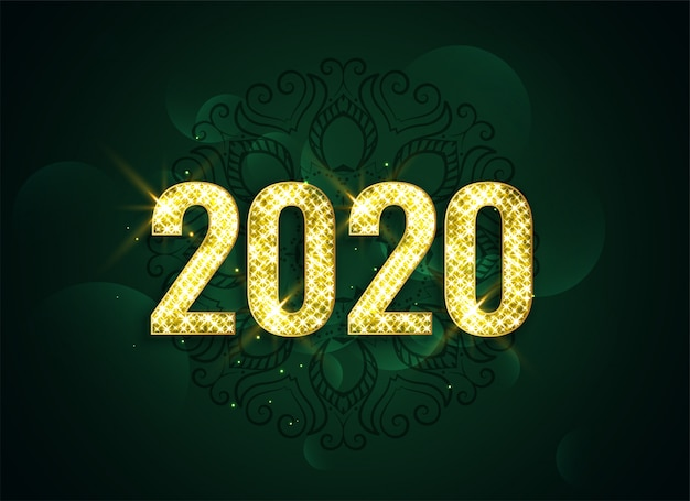 Attractive happy new year 2020 sparkle background