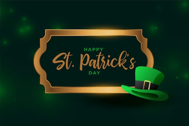 Attractive happy st patricks day festival card