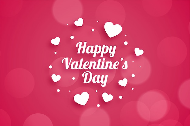 Attractive happy valentines day greeting card