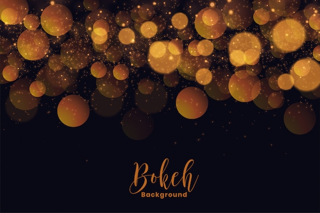 Attractive holiday bokeh background in golden light effect