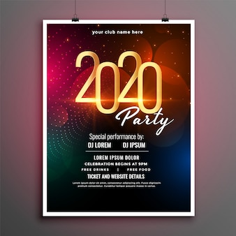 Attractive new year event party flyer template