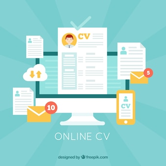 Attractive online curriculum template