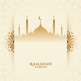 Attractive ramadan kareem festival background with mosque