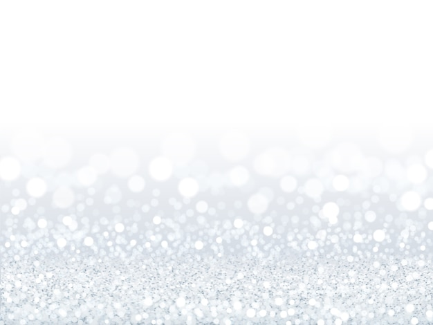 Attractive white sequins background, silver and white particles composed of bokeh wallpaper in  illustration