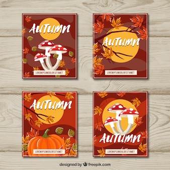 Atumn card collection with elegant style