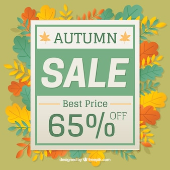 Atumn sale with colorful style