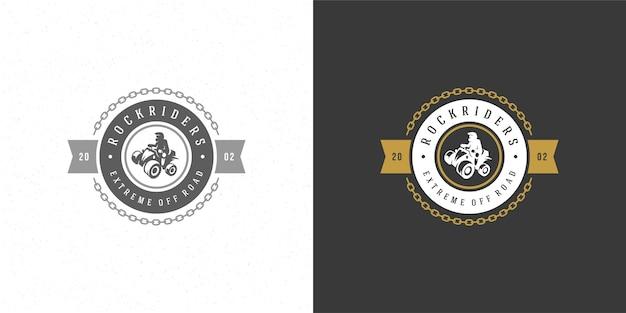 Квадроцикл логотип эмблема иллюстрация внедорожная горная экспедиция
