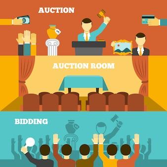 Набор баннеров аукциона