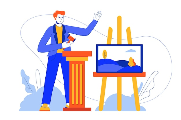 Веб-концепция аукциона бизнеса