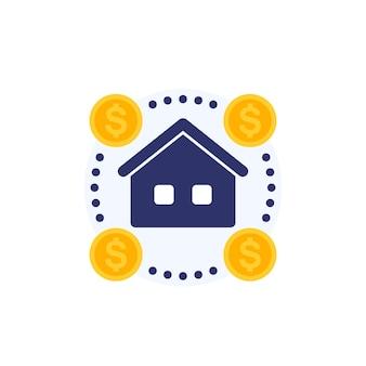 Аукционный дом, продажа векторный icon