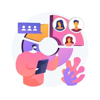 Audience segmentation abstract concept illustration