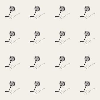 오디오 마이크 패턴, 음악 그림입니다. 창의적이고 고급스러운 커버
