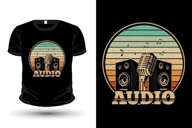 Audio retro merchandise t shirt design