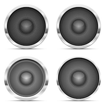 Audio speaker   illustration  on white background