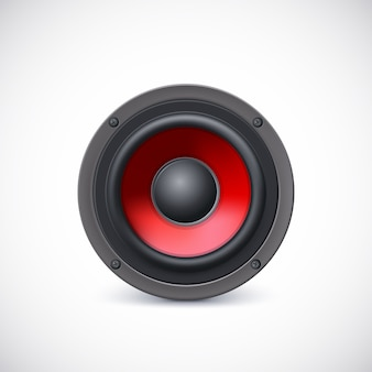 Audio speaker with red diffuser