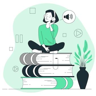 Illustrazione del concetto di audiolibro