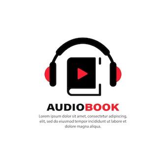 オーディオブックのアイコン。オンライン学習。オンライン書店に使用します。孤立した白い背景の上のベクトル。 eps10。