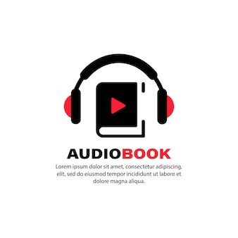 Audiobook icon. online learning. use for online book store. vector on isolated white background. eps 10.
