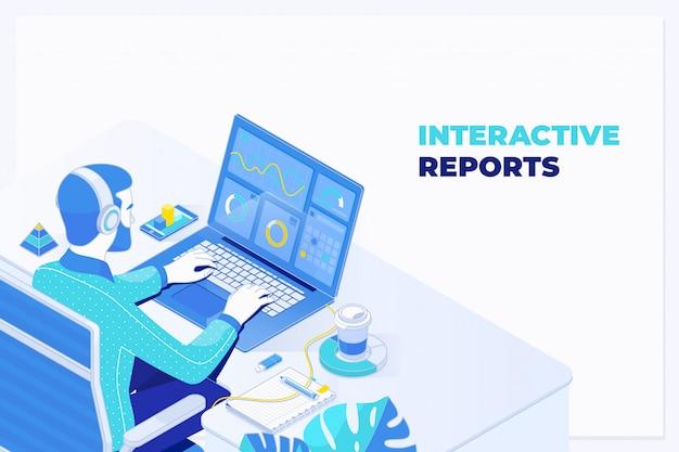 オフィスでのデータベース財務計画レポート作成監査