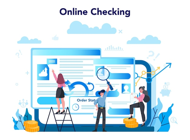 オンラインサービスまたはプラットフォームを監査します。事業運営のオンラインチェック。