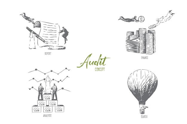 Иллюстрация эскиза концепции поиска аудита