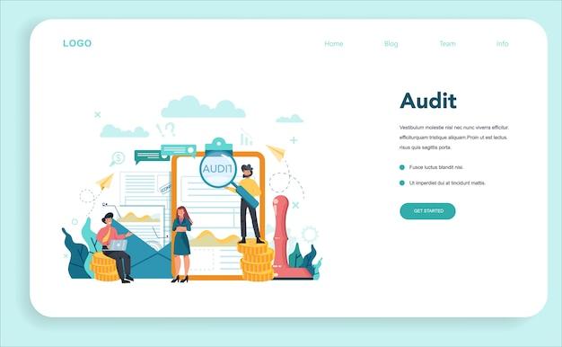Audit web banner or landing page