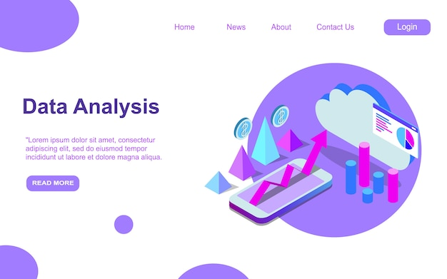 Auditing, business analysis concept of opportunities. graphic and audit documentation, economic analysis financial budget. illustration flat isometric background.